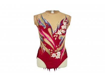 Gymnastický dres Jessica červený