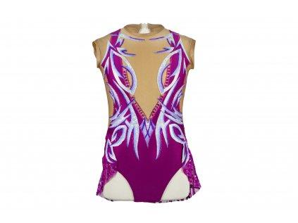 Gymnastický dres Inna fialový