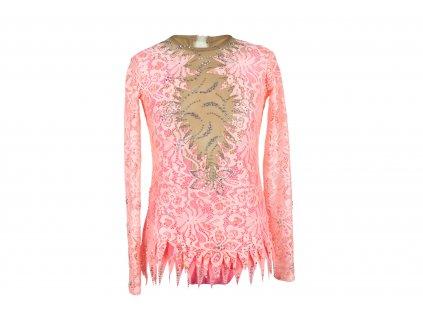 Gymnastický dres Amy růžový