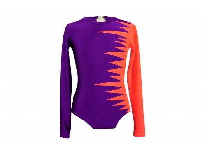 Gymnastický dres oranžový