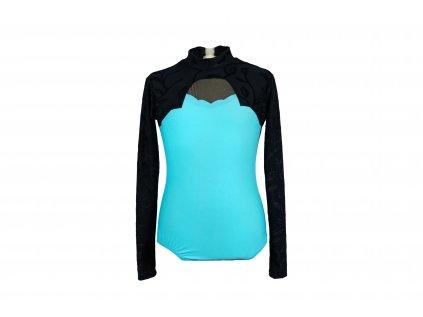 Gymnastický dres tyrkysový