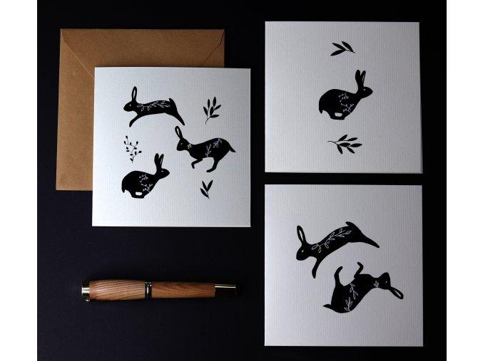3 králíci