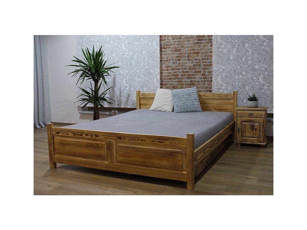 Manželská postel opalovaná