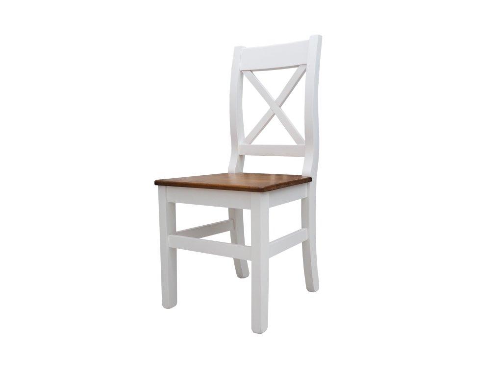 Židle Wiki - bílá/dub