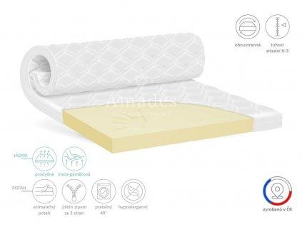 Vrchní matrace VISCO - paměťová pěna PP