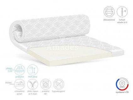 Vrchní matrace ADRIA 5 cm