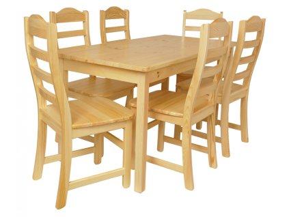Jídelní stůl se židlemi Komplet I