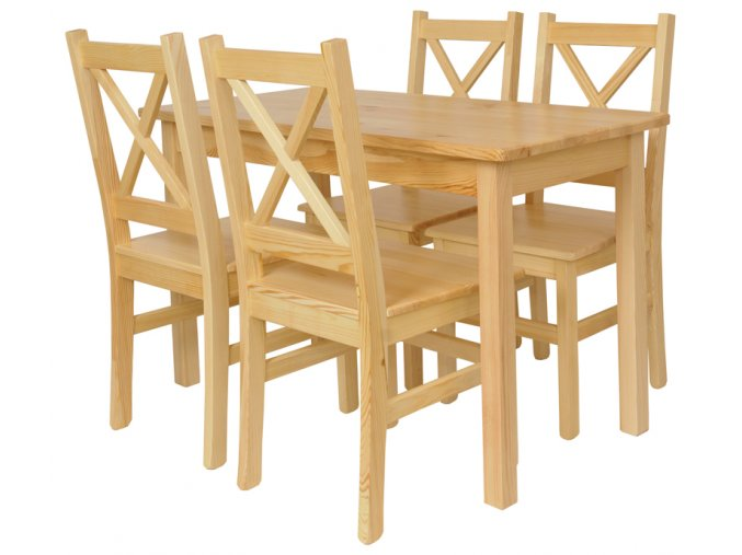 Jídelní stůl se židlemi Komplet II