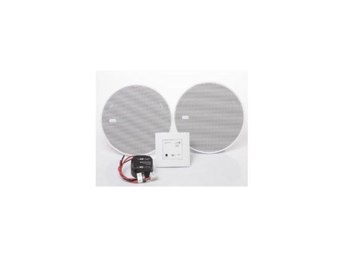 """Sada Bluetooth Audio přijímač do zdi + 2 reproduktory 5"""" - Bílý"""