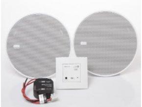 """Sada Bluetooth Audio přijímač do zdi + 2 reproduktory 5"""" - STŘÍBRNÝ"""