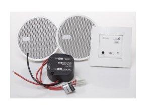 """Sada Bluetooth Audio přijímač do zdi + 2 reproduktory 2,5"""" - Stříbrný"""