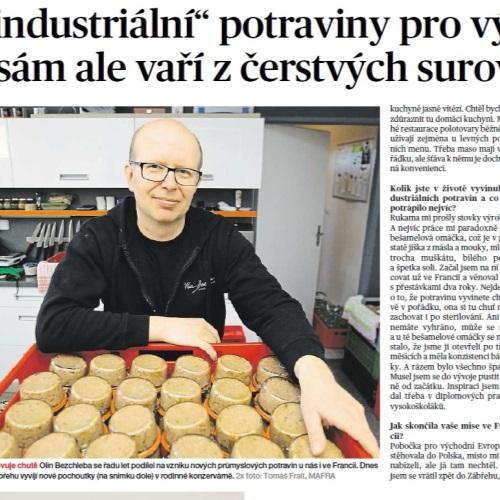 """Vyvíjel """"industriální"""" potraviny pro východní evropu, sám ale vaří z čerstvých surovin"""