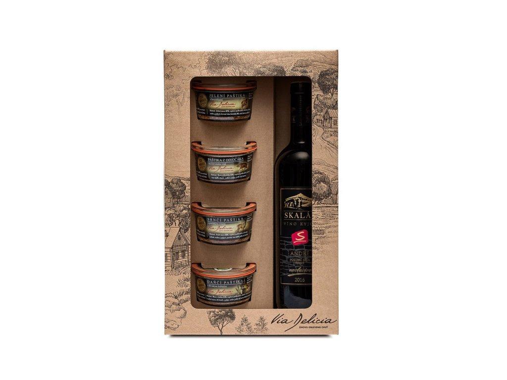DK 4 zvěřinové paštiky a červené víno
