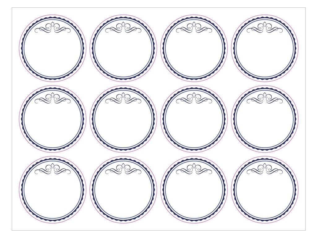Dekorační samolepky kruh 55mm
