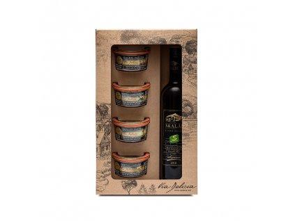 DK 4 selské paštiky a bílé víno