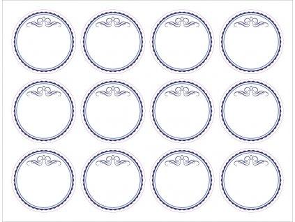 Dekorační samolepky kruh 40mm