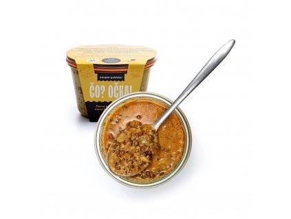 Čočková polévka s curry a kokosovým mlékem