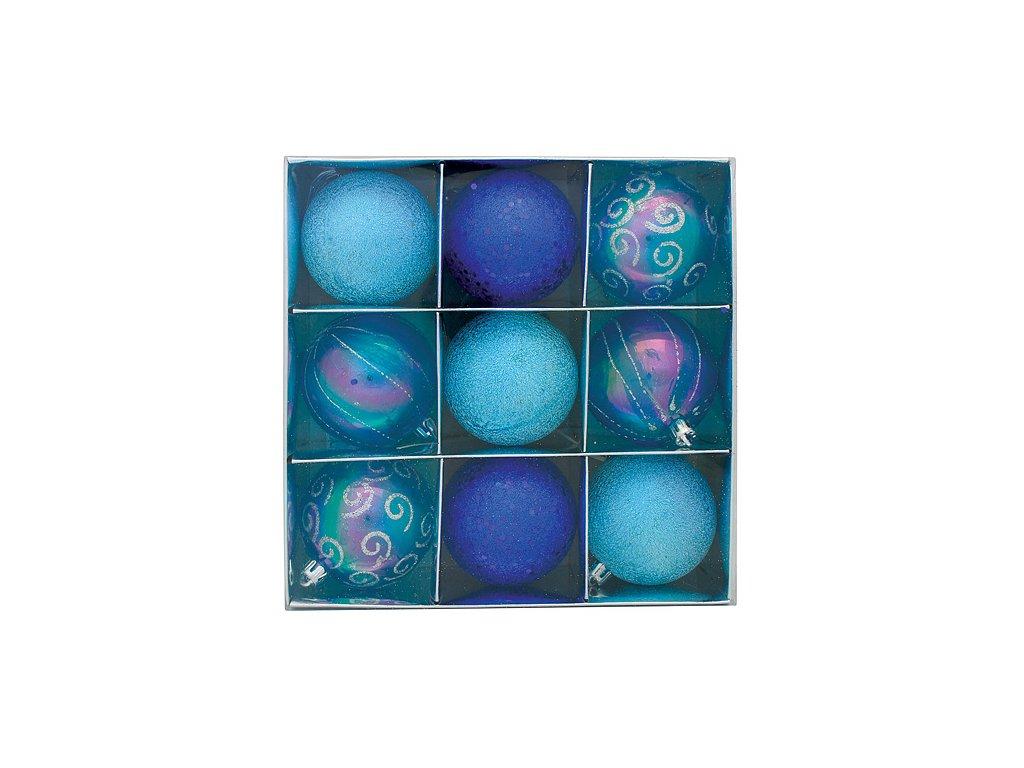 Ozdoba Xmas HU3 7009, 9 dielna, M05 modrá