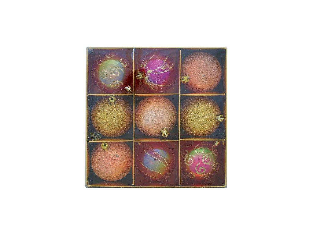 Ozdoba Xmas HU3 7009, 9 dielna, M10 medená