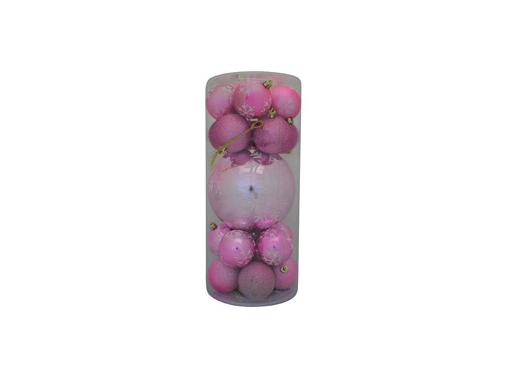 Ozdoba Xmas N4 6020, 20 dielna + Ball, M08 ružová