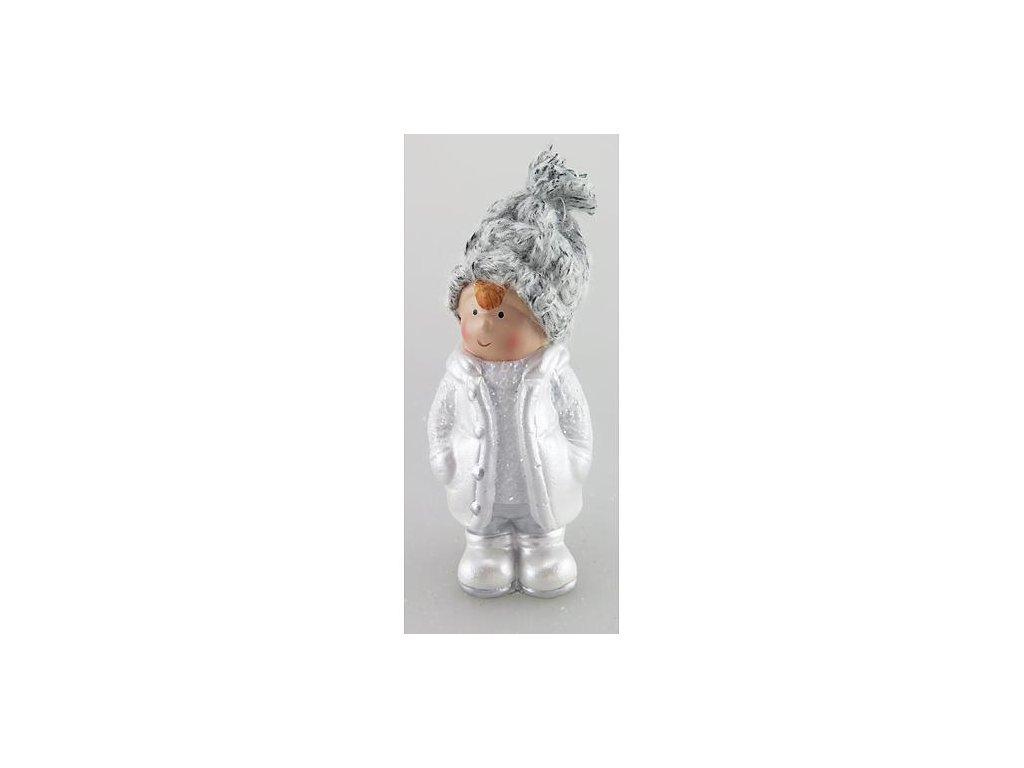 Postavicka Xecco 16B380, Chlapček s čiapočkou, terakota, 11.5 cm