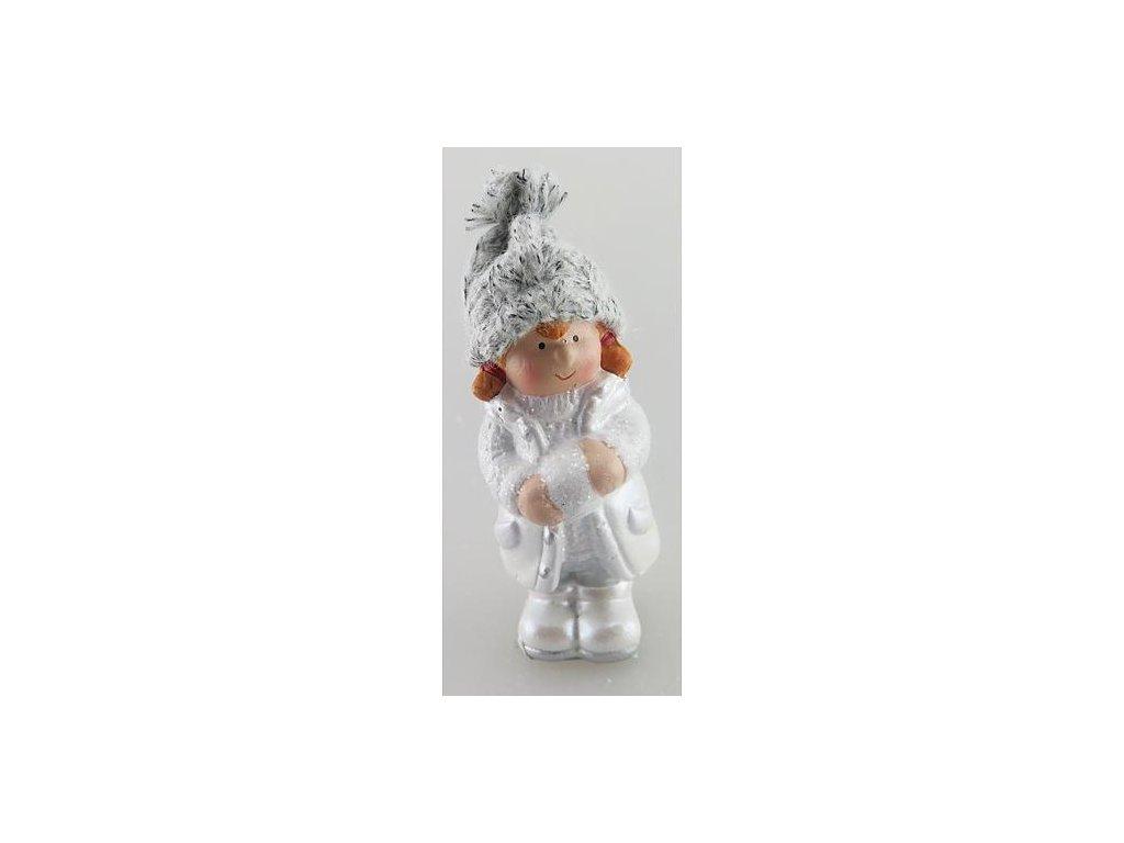 Postavicka Xecco 16B380, Dievčatko s čiapočkou, terakota, 11.5 cm