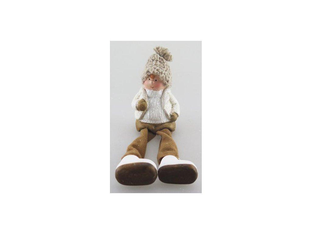 Postavicka Xecco 16B377, Chlapec s plátennými nohami, terakota, 8.5 cm