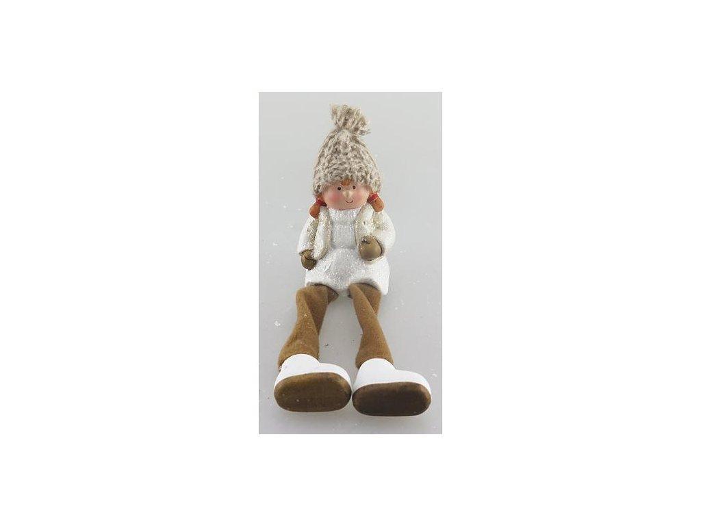 Postavicka Xecco 16B377, Dievča s plátennými nohami, terakota, 8.5 cm