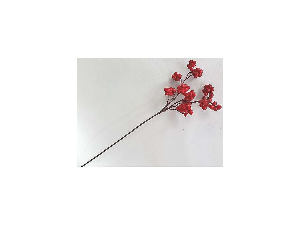 Vetvicka Berries.Red, červená, 33 cm, bal. 6 ks