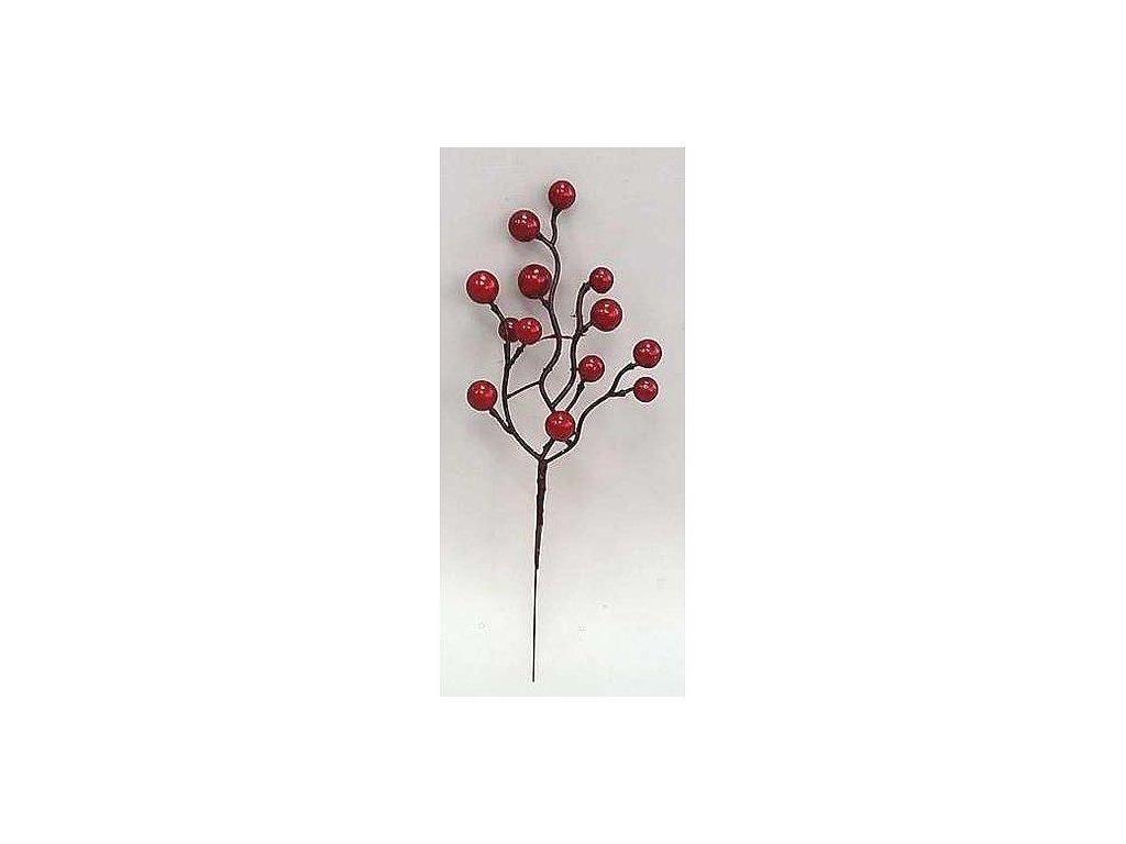 Vetvicka Berries.Red12, červená, 24 cm, bal. 12 ks