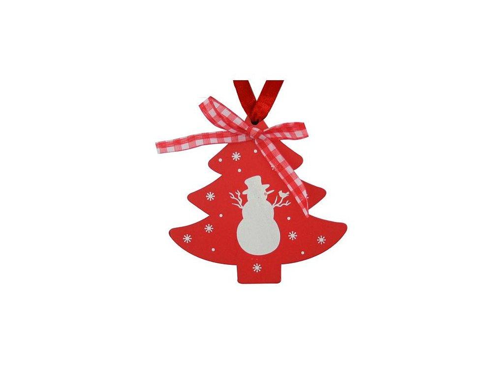 Ozdoba MagicHome XO031R/B, Stromček červený, 10cm, bal. 5 ks