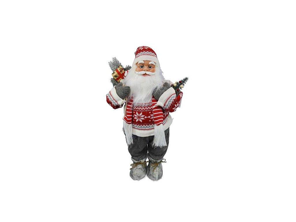 Dekoracia XmSA59, Santa, so šálom, 060 cm