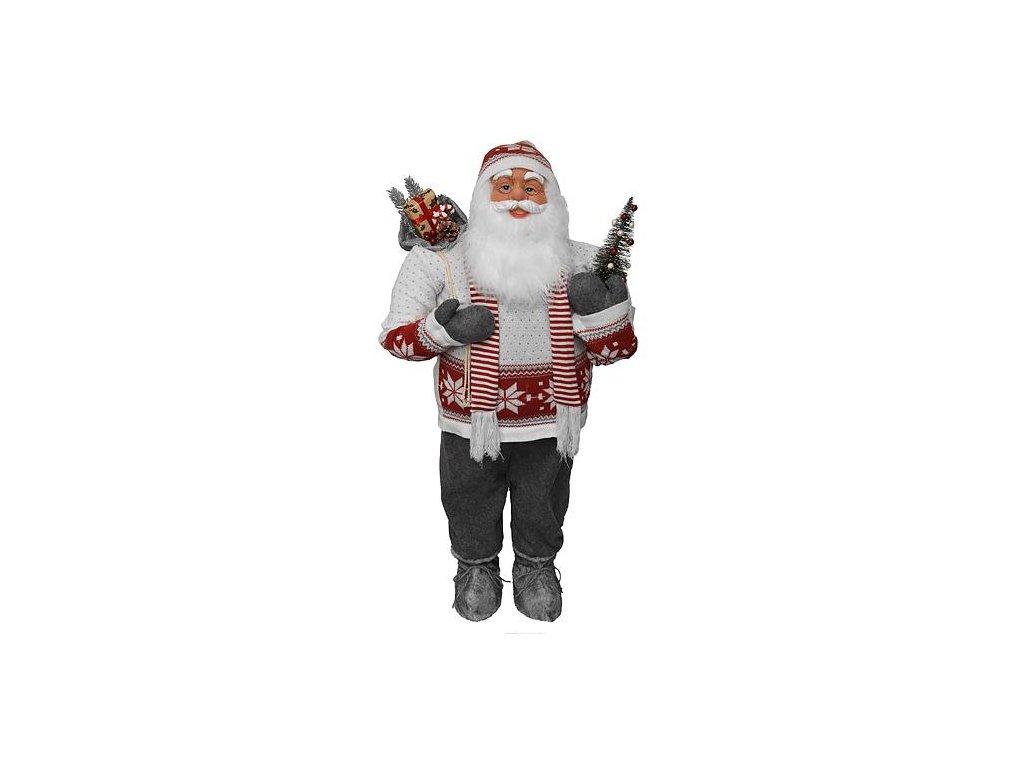 Dekoracia XmSA53, Santa so šálom, 120 cm