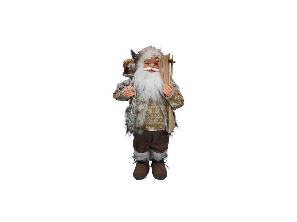 Dekoracia XmSA27, Santa, hnedý, 060 cm