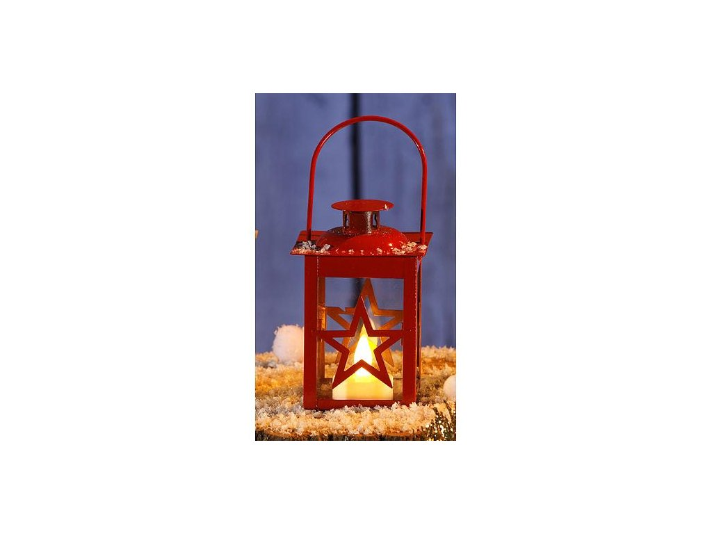 Lampas MagicHome X2091, Hviezda, mix biely/červený, LED, bal. 12 ks