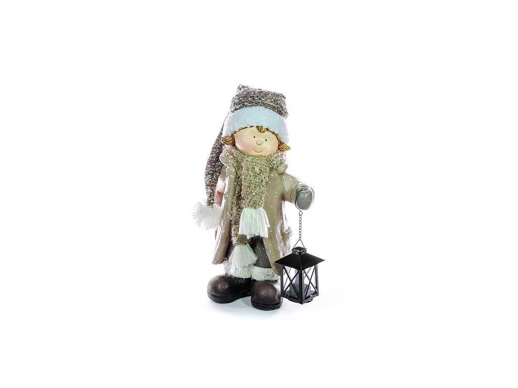 Postavicka Xecco 185061, Dievčatko s lampášikom, magnesia