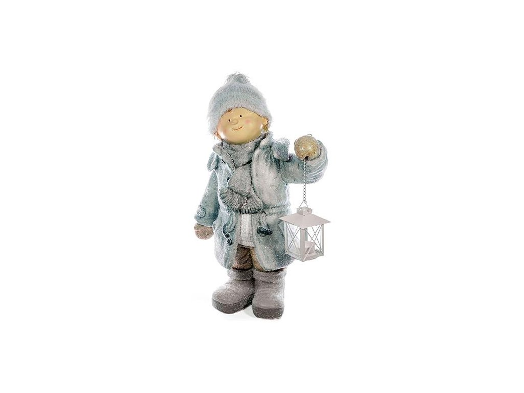 Postavicka Xecco 182029, Chlapček s lampášikom, magnesia