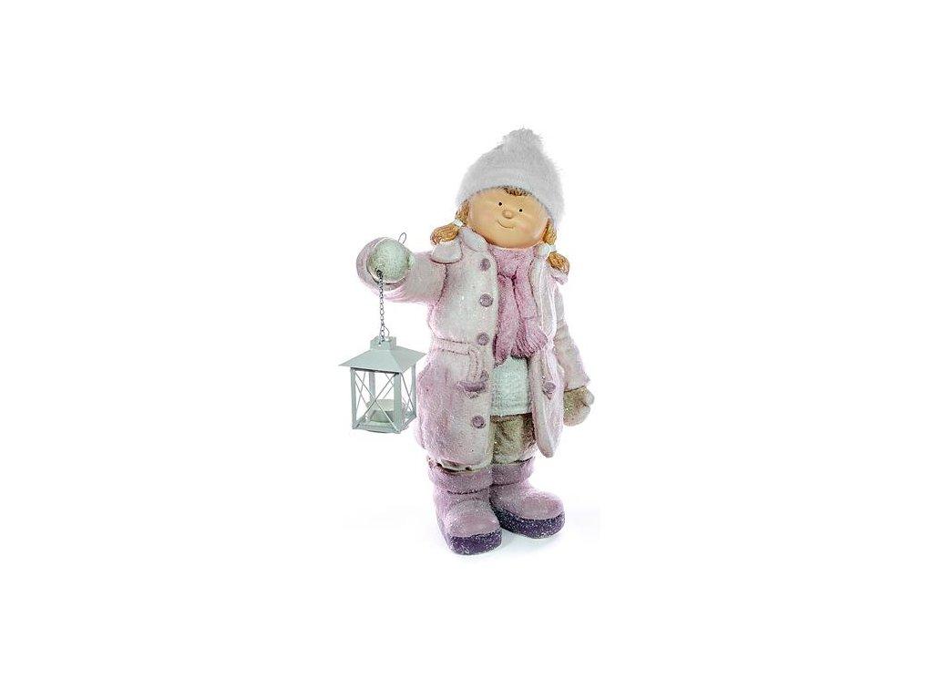 Postavicka Xecco 182031, Dievčatko s lampášikom, magnesia