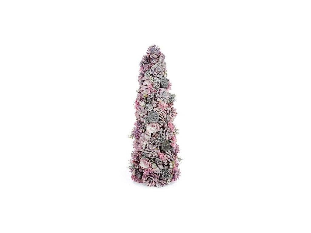 Stromček prírodný MagicHome, ružový, 50 cm