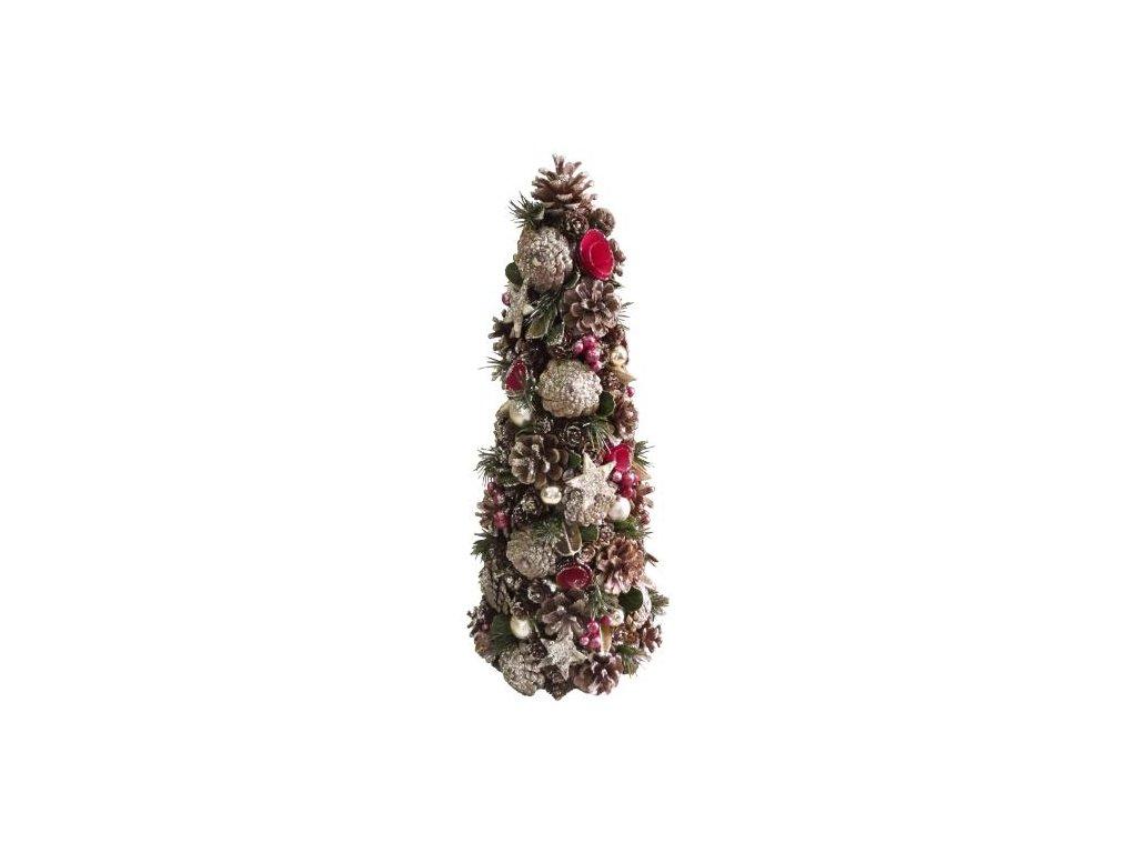 Stromček prírodný MagicHome, červený, 50 cm