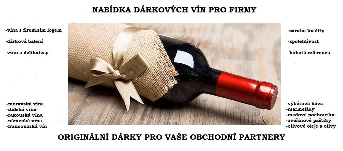 Speciální nabídka pro firmy - vína a delikatesy jako exkluzivní dárkový předmět