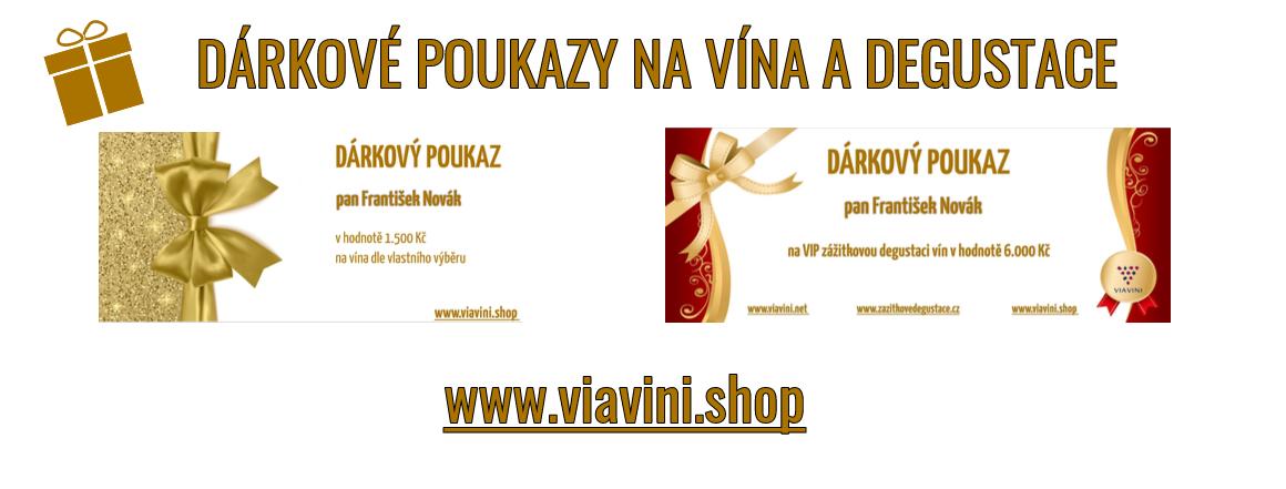 Darujte dárkový poukaz na vína či VIP zážitkovou degustaci