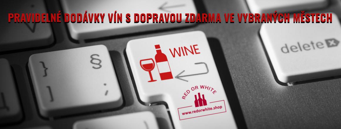 Pravidelné dodávky vín s dopravou zdarma ve vybraných městech