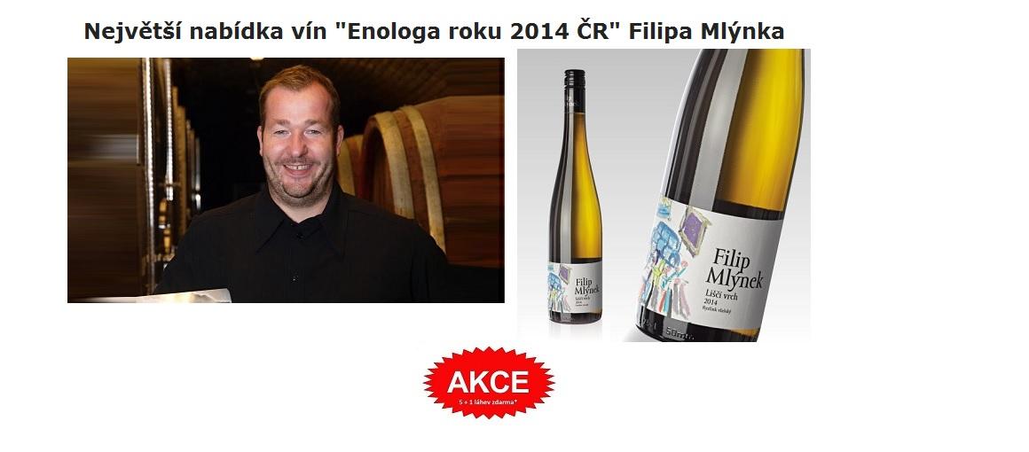 Víno Filip Mlýnek - akce 5+1 láhev zdarma