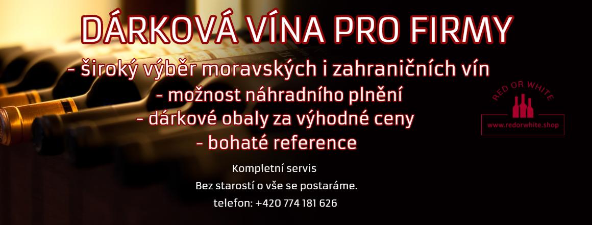 Dárková vína pro firmy s možností náhradního plnění