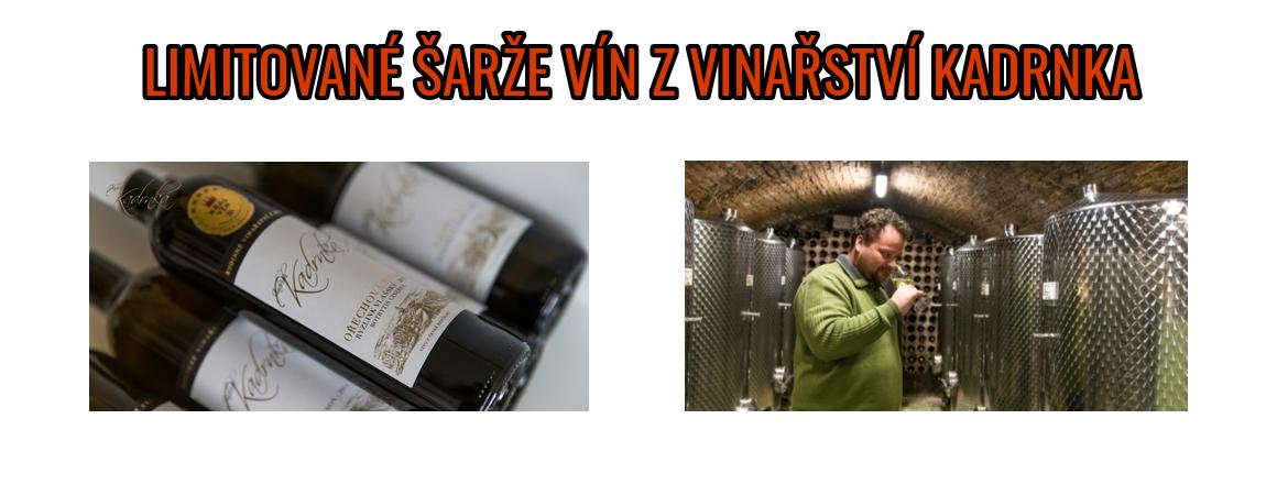 Limitované šarže vín z vinařství Kadrnka
