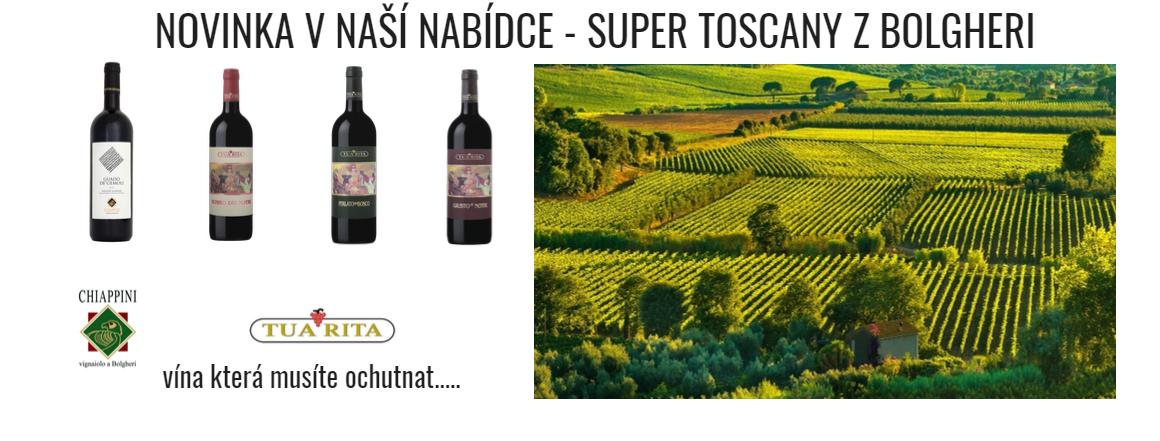 Novinka v naší nabídce - dovezli jsme pro Vás Super Toscany z Bolgheri