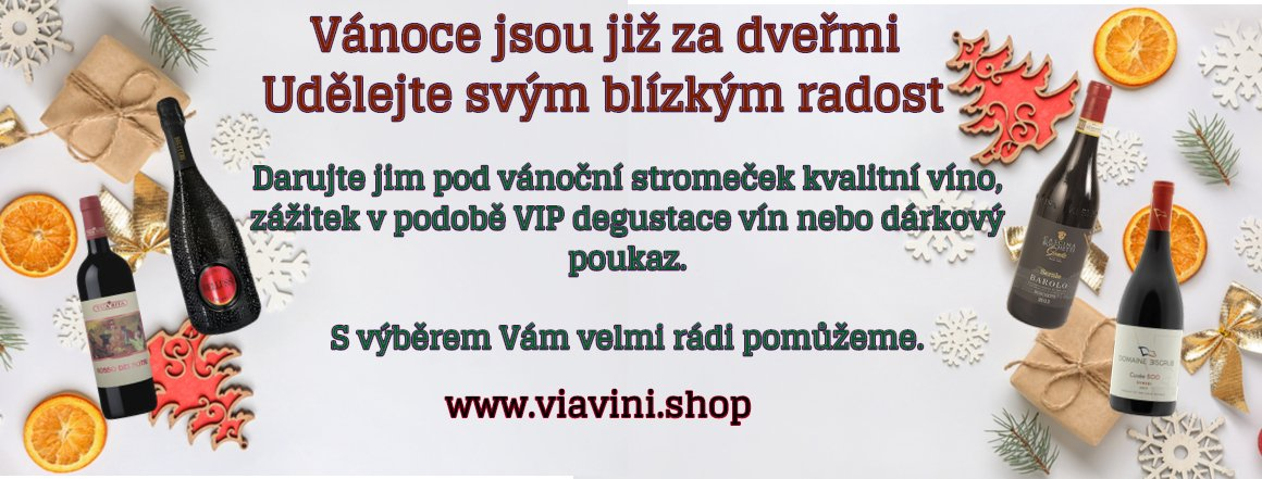 Darujte pod vánoční stromeček kvalitní víno, zážitek v podobě VIP degustace vín nebo dárkový poukaz.