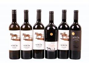 Degustační sada Vinařství Sedlák - výběr - 6 láhví