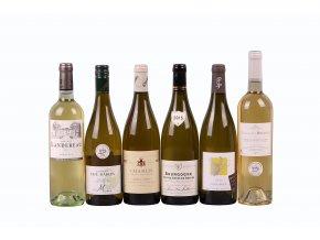 Degustační sada Francie - bílá vína - výběr - 6 láhví